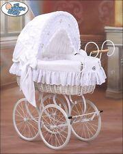 My Sweet Baby Retro Stubenwagen Nostalgiestubenwagen weide XXXL weiß Tüv