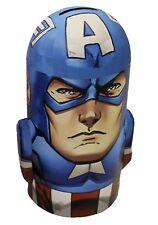 Captain America MARVEL Tin Coin Bank Brand New!