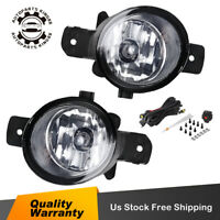 for Nissan Altima Rogue Infiniti Clear Bumper Fog Lights Lamps w/ Wiring & Bulbs