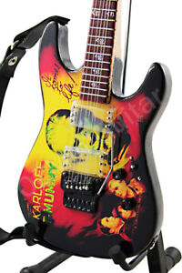 Miniature Guitar ESP KH-2 The Mummy Kirk Hammett Metallica & Strap