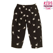 Rrp €115 Pinko Up Crepe Trousers Size 2Xs / 24M Ice Cream Flowers Pattern