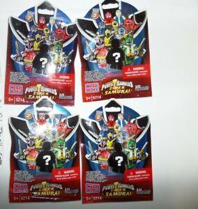 Mega Bloks Power Rangers Super Samurai Series 2 Blind Bag Mystery Packs(4 packs)
