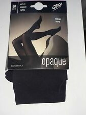 Gipsy 60 denier Velvet Opaque Navy nylon tights. Size Extra Large