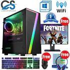 """Seven Gaming Pc Computer Bundle Intel Quad Core I5 8gb 1tb 2gb Gt710 Win10 19"""""""