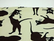 Siamese Cat Vintage Thin Small Wale Corduroy Fabric Mid Century Modern 1/2 Yard