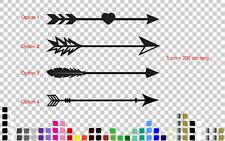 Arrow Decal Sticker Boho Bohemian Hipster Wedding Heart Direction Sign
