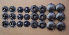 Prym Button/Snap 4pc Set: Cap-Spring Sochet-Stud-Post - Brass Black Oxy - 6 sets