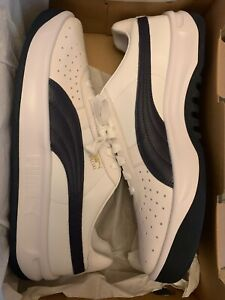 Puma GV Special White Navy Blue Peacoat Sneakers 366613-06 Men's Size 10.5