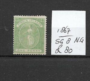 VIRGIN ISLANDS @ 1867  s.g 8    N.G  @ Vir.2