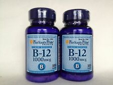 2 Puritan's Pride Vitamin B-12 1000 mcg Timed Release - Value Pack Made In USA