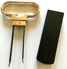 Gold Plated Two Prong Cork Puller Extractor Ah - So Style Wine Waiter's Friend
