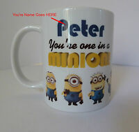 Personalised Minion Mug Despicable Me Birthday Christmas Gift Present Tea Cup