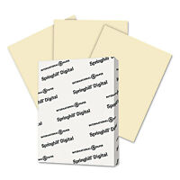 Springhill Digital Index Color Card Stock 90 lb 8 1/2 x 11 Ivory 250 Sheets/Pack