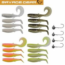Savage Gear Canibal Box Kit M - 16 Gummifische + 4 Jigköpfe, Angelset Zander