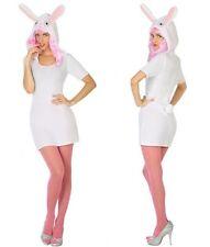 Déguisement Femme Lapin Blanc M/L 40/42 Costume Adulte Animal Dessin Animé Alice