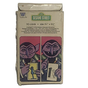 "Whitman Sesame Street See and Know Number Cards 1978 3.5"" X 5.75"", Missing One"