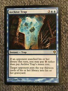 MTG Zendikar Archive Trap Blue Rare Card NM 41