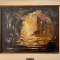 A.W. Adler - Fingal's Cave (oil on canvas)