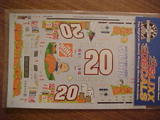 "2002 TONY STEWART #20 PEANUTS ""PUMPKIN"" HOME DEPOT 1/24-1/25  WATER SLIDE DECAL"