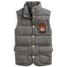 RALPH LAUREN Tweed Wool Down Gilet Bodywarmer, Size L, RRP £389