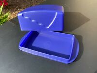 FREE SHIPPING! 2021 Tupperware Impressions BLUE Color 1 POUND Butter Dish NEW!