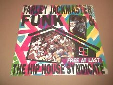 "FARLEY JACKMASTER FUNK & THE HIP HOUSE SYNDICATE "" FREE AT LAST "" 7"" SINGLE 1989"