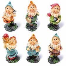 "Juvale 6 Pcs Happy Mini Gnome Figurines Accessories Set for Fairy Gardens, 4"""