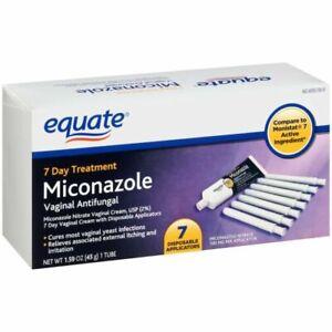 Equate Miconazole 7 Vaginal Cream 1.59 oz w/Applicator COMP MONISTAT-7 *Read Ad*