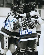 GFA 1980 Miracle on Ice * MIKE ERUZIONE & JIM CRAIG * Signed 8x10 Photo COA