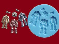 ROBOT TRANSFORMERS DADI BULLONI stampo in silicone Set Torta Decorazione Cupcake CIBO G