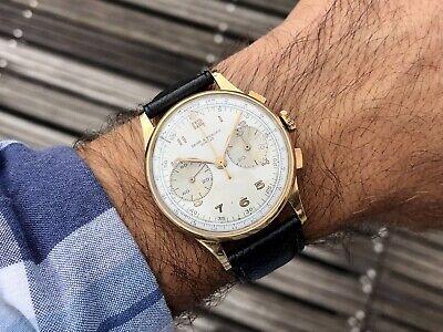 Baume Et Mercier 18kt Gold Vintage Chronograph Oversize