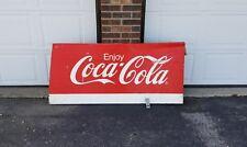 Huge Vintage Rare Coca Cola metal sign 5x3