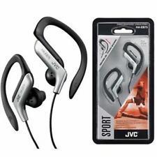 JVC Sports Splash Proof Water Resistant Silver Earhook Stereo Earbuds 16-20K Hz
