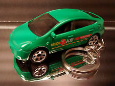 Green Toyota Prius Taxi Cab Key Chain Ring