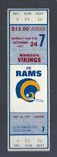 VINTAGE 1977 NFL MINNESOTA VIKINGS @ LOS ANGELES RAMS FULL FOOTBALL TICKET