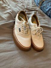 RARE🔥 VANS Era White Canvas Gold GUM Sz 8 Men's Shoes Waffle Sole Original LE