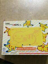 new nintendo 3ds xl pikachu edition
