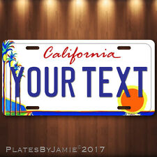 California Palm and Sun Aluminum License Plate Tag Personalized Auto Tag Custom