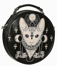 Prohibido Apparel Nemesis Gótico Gatito Gato pentragram oculta de hombro bolso de mano