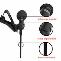 Clip On Revers Mini Lavalier Mikrofon für Iphone Smartphone Aufnahme I1M5
