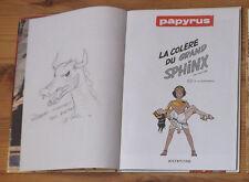 """Papyrus """"La colère du grand shpinx"""" tome 20 dédicace bd dédicacée par De Gieter"""