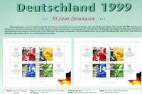Bund Block 49 PF I +Vergleichsblock gestempelt ESST Plattenfehler a.Sonderblatt