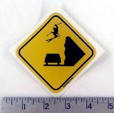 "Snow Ski Skier Skiing Crossing Decal Sticker 3""x3"""