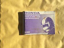 Honda NH80 Owners Handbook Manual