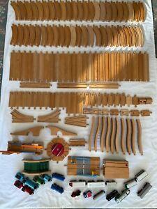 Large Wooden Train Track Bundle Job Lot -Brio / Thomas Compatible Bridge Set