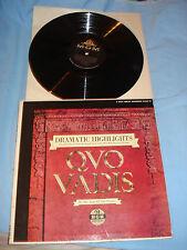 Quo Vadis-Miklos Rozsa Conservatoire Highlights Original MGM OST MOVIE LP 1961!