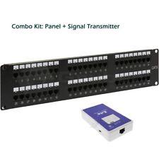 48 Port Cat6 LED Identification Patch Panel Combo UP48-CAT6LED+SIG