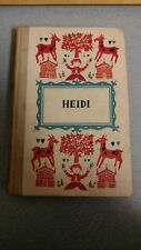 HEIDI Junior Deluxe Edition BY JOHANNA SPYRI 1954 Illustrated HC
