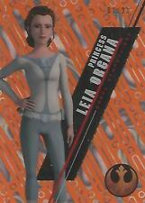 "Star Wars High Tek 2016: SW-54 ""Princess Leia"" Orange Parallel Base Card #01/25"