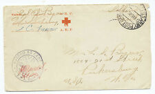US 1918 WWI AEF Army Postal Office Censor Cover APO 785 to West Virginia XR